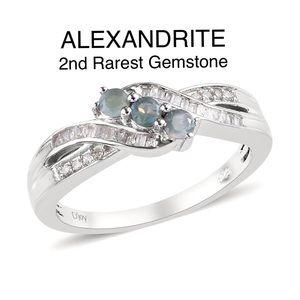 ALEXANDRITE, Diamond Acct. Ring